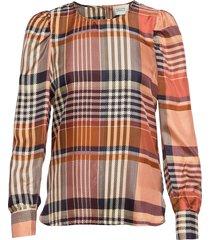 nice blouse blouse lange mouwen bruin second female