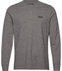 b.intl l/s logo tee t-shirts long-sleeved grå barbour