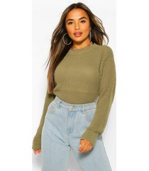 petite oversized sweater, green