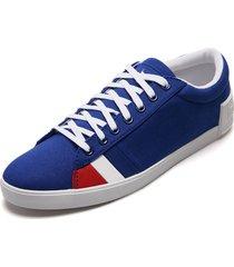tenis lifestyle azul-blanco-rojo le coq sportif flag sport