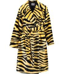 dierlijke patroon fake fur jas