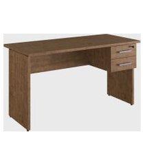 mesa p/ escritório + gaveteiro suspenso ative vermont home office artesano marrom