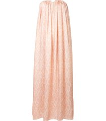 acler haslam snake-print flared dress - neutrals