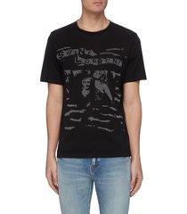 'rock n roll' graphic print t-shirt