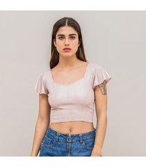 camiseta ajustada corta manga corta vald
