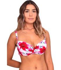 bikini sostén con copa blanda c-d est rojo samia