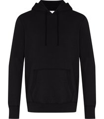 reigning champ pouch-pocket cotton hoodie - black