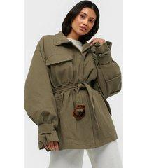 missguided canvas jacket buckle detail övriga jackor
