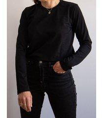 bluzka malmo crew neck czarna longsleeve