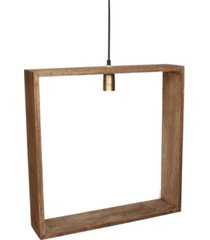 villa2 solis wooden square frame hanging pendant in weathered vintage-inspired bushed retro bulb holder 25 watt