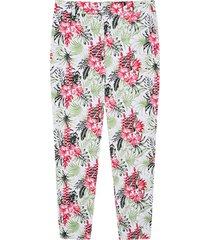 pantalon para mujer floral color blanco, talla 10
