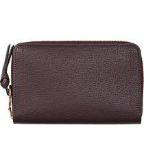 women's longchamp mailbox compact leather wallet - purple