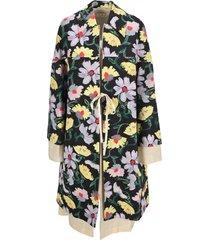 marni magnolia print taffeta duster coat
