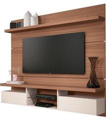 painel home suspenso 1.8 para tv atã© 55 sala de estar lennon nature/off white - gran belo - off-white - dafiti