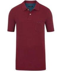camisa polo pierre cardin com bolso piquet colors masculina
