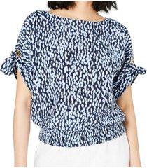 blouse knit doorvoertule sleeve
