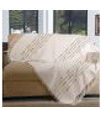 manta para sofá pegasus - 150 x 140 cm ráfia