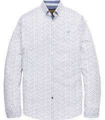 long sleeve shirt poplin print bright white