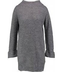 garcia lange grijze relaxed fit jurk trui 3/4 mouw