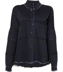 camisa john john riga preto feminina (preto, gg)