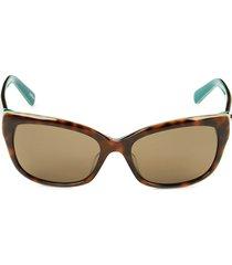 kate spade new york women's 53mm johanna cat eye sunglasses - havana