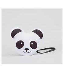 bolsa infantil transversal panda preta