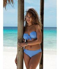 beach hut padded bandeau v wire bikini top