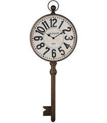 zegar metalowy klucz