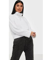 missguided high neck tie detail long sleeve sweat tröjor