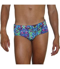 bañador estampado aranzazu brief azul
