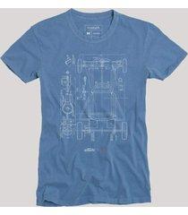 camiseta chassi reserva azul