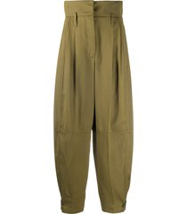 givenchy high-waisted military trousers - green