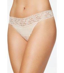 hanky panky organic cotton low-rise lace thong 891581