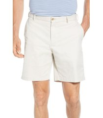 men's peter millar soft touch twill shorts, size 36 - beige