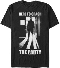 halloween 2 men's michael myers here to crash the party short sleeve t-shirt