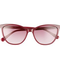 women's longchamp le pliage 57mm gradient cat eye sunglasses - purple