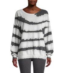 wildfox women's printed cotton-blend sweatshirt - zebra dye - size xs