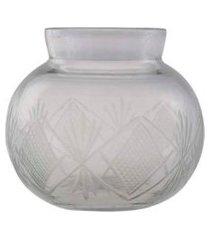 cachepot- pashmina- vidro trabalhado- transparente