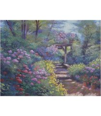 "david lloyd glover garden path in soft light canvas art - 20"" x 25"""