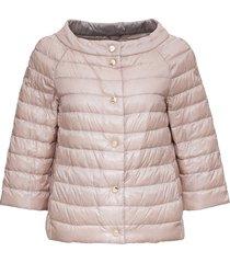 herno reversible pink nylon cape