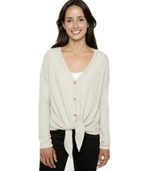 chaleco nalka knot light beige stoked