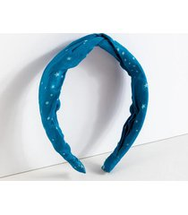 abby star print headband - navy