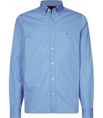 camisa slim geo print bicolor tommy hilfiger