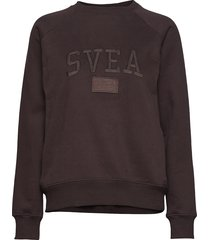 betty crew sweat-shirt tröja brun svea
