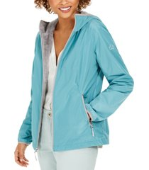 hfx faux-fur-lined hooded water-resistant jacket