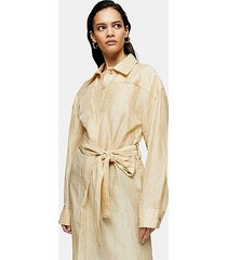 *sand linen blend trench dress by topshop boutique - sand