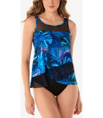 miraclesuit royal palms mirage underwire tankini swim top women's swimsuit