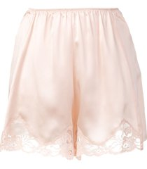 stella mccartney lace trim satin shorts - pink
