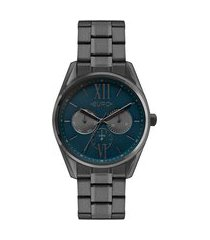 relógio feminino euro multifunção - eu6p79ab4e chumbo