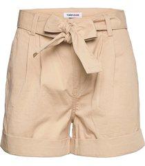 tjw mom belted short shorts paper bag shorts beige tommy jeans